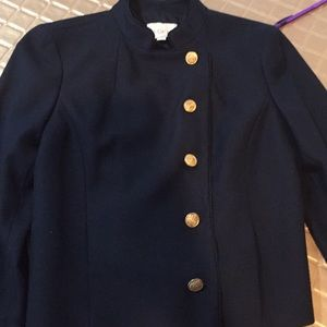 Loft navy blazer with gold buttons